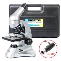 Мікроскоп SIGETA PRIZE NOVUM 20x-1280x з камерою 0.3Mp (в кейсі): збільшити фото