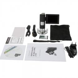 Додаткове зображення Цифровий мікроскоп SIGETA HandView 20-500x 5.0Mpx 3'' TFT №4